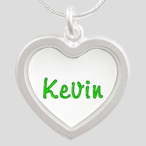 Kevin Glitter Gel Silver Heart Necklace