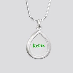 Kevin Glitter Gel Silver Teardrop Necklace