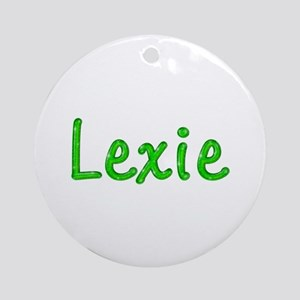 Lexie Glitter Gel Round Ornament