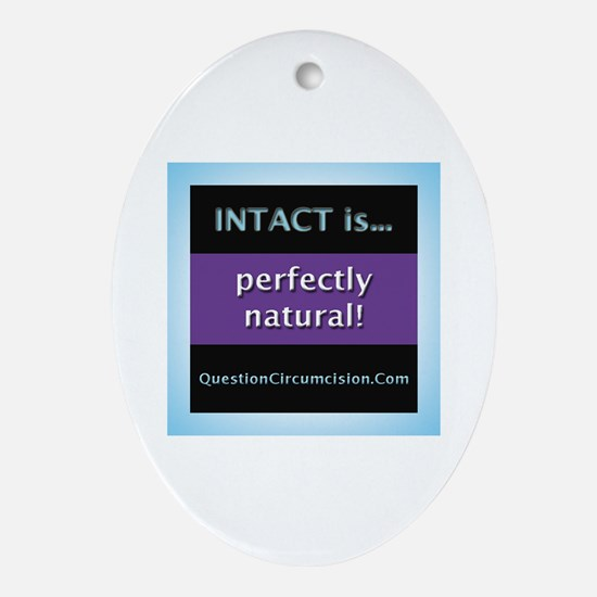 Cute Attachment parenting Oval Ornament