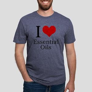 I Heart Essential Oils Mens Tri-blend T-Shirt