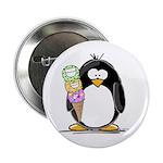 Ice Cream Penguin Button