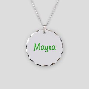 Mayra Glitter Gel Necklace Circle Charm