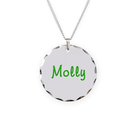 Molly Glitter Gel Necklace Circle Charm