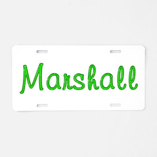Marshall Glitter Gel Aluminum License Plate