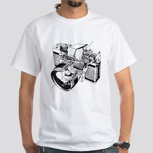 Cutaway Camera White T-Shirt