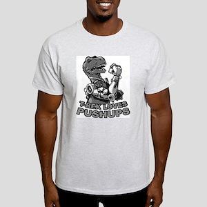 T-Rex Loves Pushups Light T-Shirt