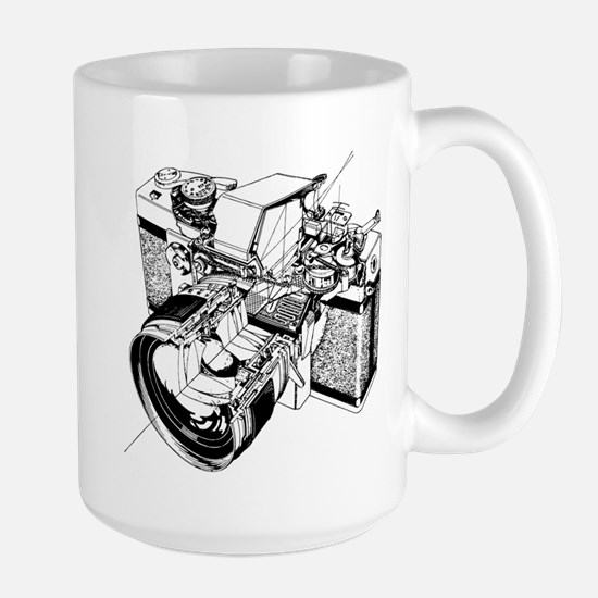 Cutaway Camera Large Mug