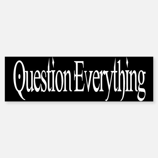 Question Bumper Bumper Bumper Sticker