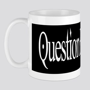 questionblacksticker Mugs
