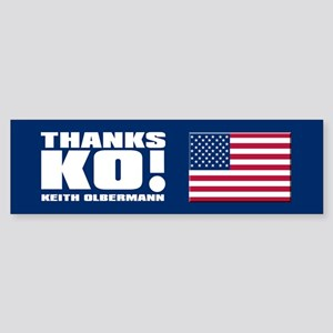 THANKS KO! Bumper Sticker