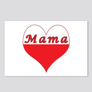 Mama Polish Heart Postcards (Package of 8)