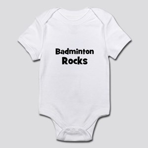 BADMINTON Rocks Infant Bodysuit