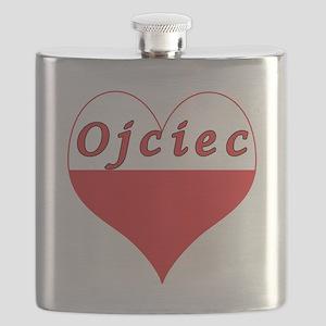 Ojciec Polish Heart Flask