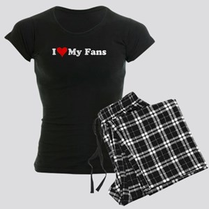 I Love My Fans Women's Dark Pajamas