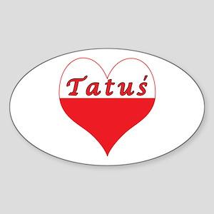 Tatus Polish Heart Sticker (Oval)