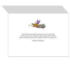 JoyWreath-2Schnauzers (uncr) Greeting Card