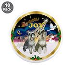 "JoyWreath-2Schnauzers (uncr) 3.5"" Button (10"