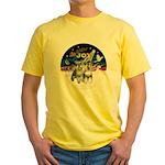 JoyWreath-2Schnauzers (uncr) Yellow T-Shirt