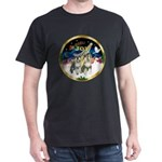 JoyWreath-2Schnauzers (uncr) Dark T-Shirt