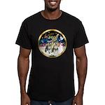 JoyWreath-2Schnauzers (uncr) Men's Fitted T-Shirt
