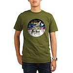 JoyWreath-2Schnauzers (uncr) Organic Men's T-Shirt