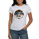 JoyWreath-2Schnauzers (uncr) Women's T-Shirt