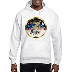 JoyWreath-2Schnauzers (uncr) Hooded Sweatshirt