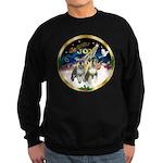 JoyWreath-2Schnauzers (uncr) Sweatshirt (dark)