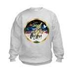 JoyWreath-2Schnauzers (uncr) Kids Sweatshirt