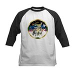 JoyWreath-2Schnauzers (uncr) Kids Baseball Jersey