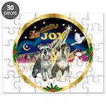 JoyWreath-2Schnauzers (uncr) Puzzle