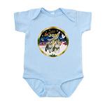 JoyWreath-2Schnauzers (uncr) Infant Bodysuit