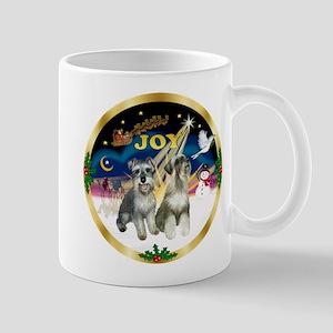 JoyWreath-2Schnauzers (uncr) Mug