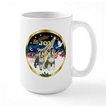 JoyWreath-2Schnauzers (uncr) Large Mug