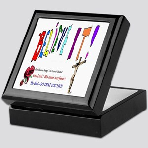 Christian Holiday Art Keepsake Box