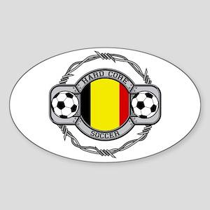 Belgium Soccer Oval Sticker