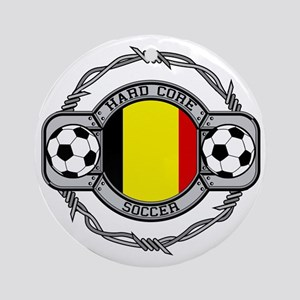 Belgium Soccer Ornament (Round)