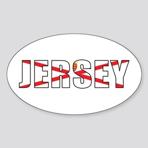 Jersey Oval Sticker