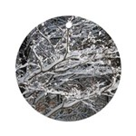 Snowy Branches Ornament (Round)