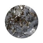 Melting Snow Jewels Ornament (Round)