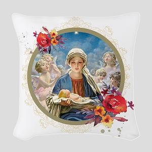 Star of Bethlehem Woven Throw Pillow
