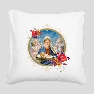 Star of Bethlehem Square Canvas Pillow