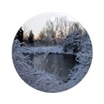 Icy Pond Ornament (Round)