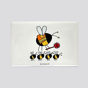 worker bee 27 ornament Magnets