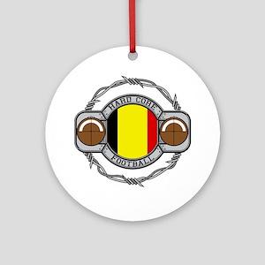 Belgium Football Ornament (Round)