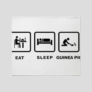 Guinea Pig Lover Throw Blanket