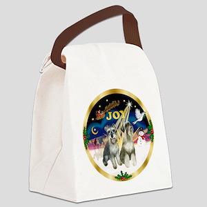 JoyWreath-2Schnauzers Canvas Lunch Bag