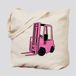 Pink Forklift Tote Bag