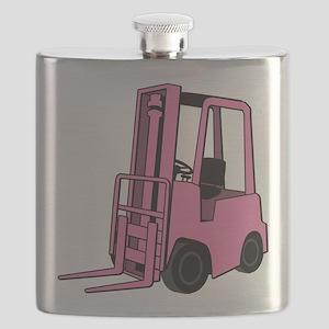 Pink Forklift Flask